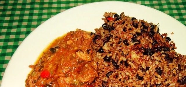 Rice and beans con carne