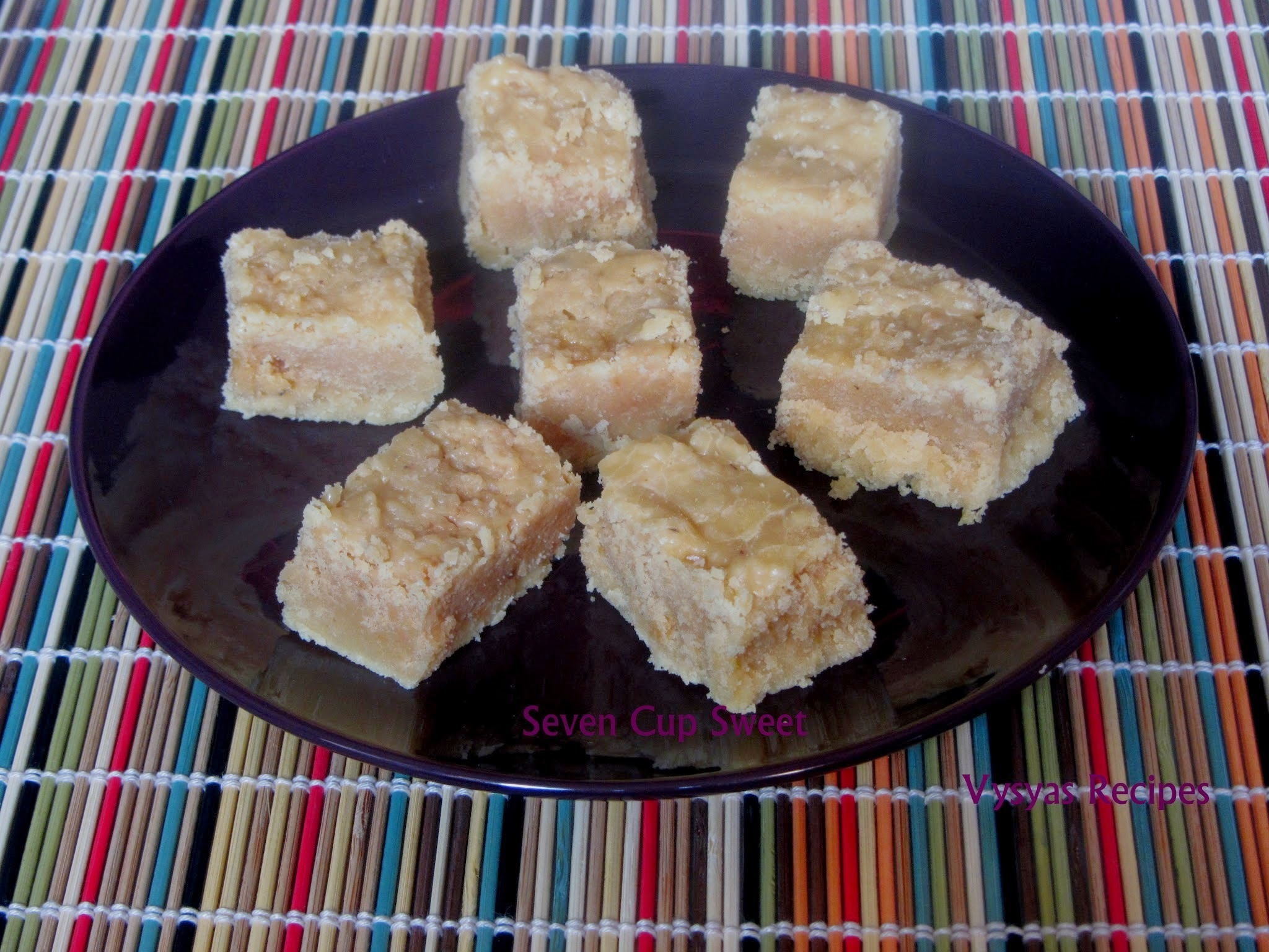 Seven Cup Burfi - 7 cup Sweet Recipe - Easy Diwali Sweet