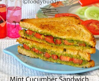 MINT CHUTNEY CUCUMBER SANDWICHES