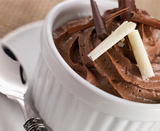 Mousse de Chocolate super prático - 4 ingredientes