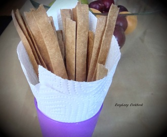 Baked crispy sticks (From leftover Roti dough)