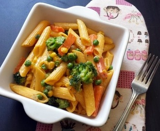 Penne Pasta with Vegetables - Kids  Lunch box Recipe