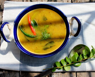Bell-pepper and cumin rice with Indian lentil soup (dal) – a simple comfort food