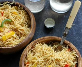 Burnt Garlic Bell Peppers Noodles, One Pot Meal Idea