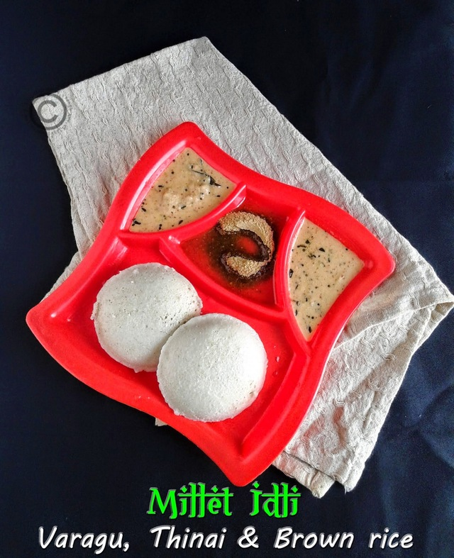 MILLET IDLI I BROWN RICE IDLI I SOUTH INDIAN BREAKFAST RECIPES I HEALTHY BREAKFAST RECIPES