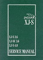 Jaguar XJS 3.6 and 4.0 Litre Service Manual