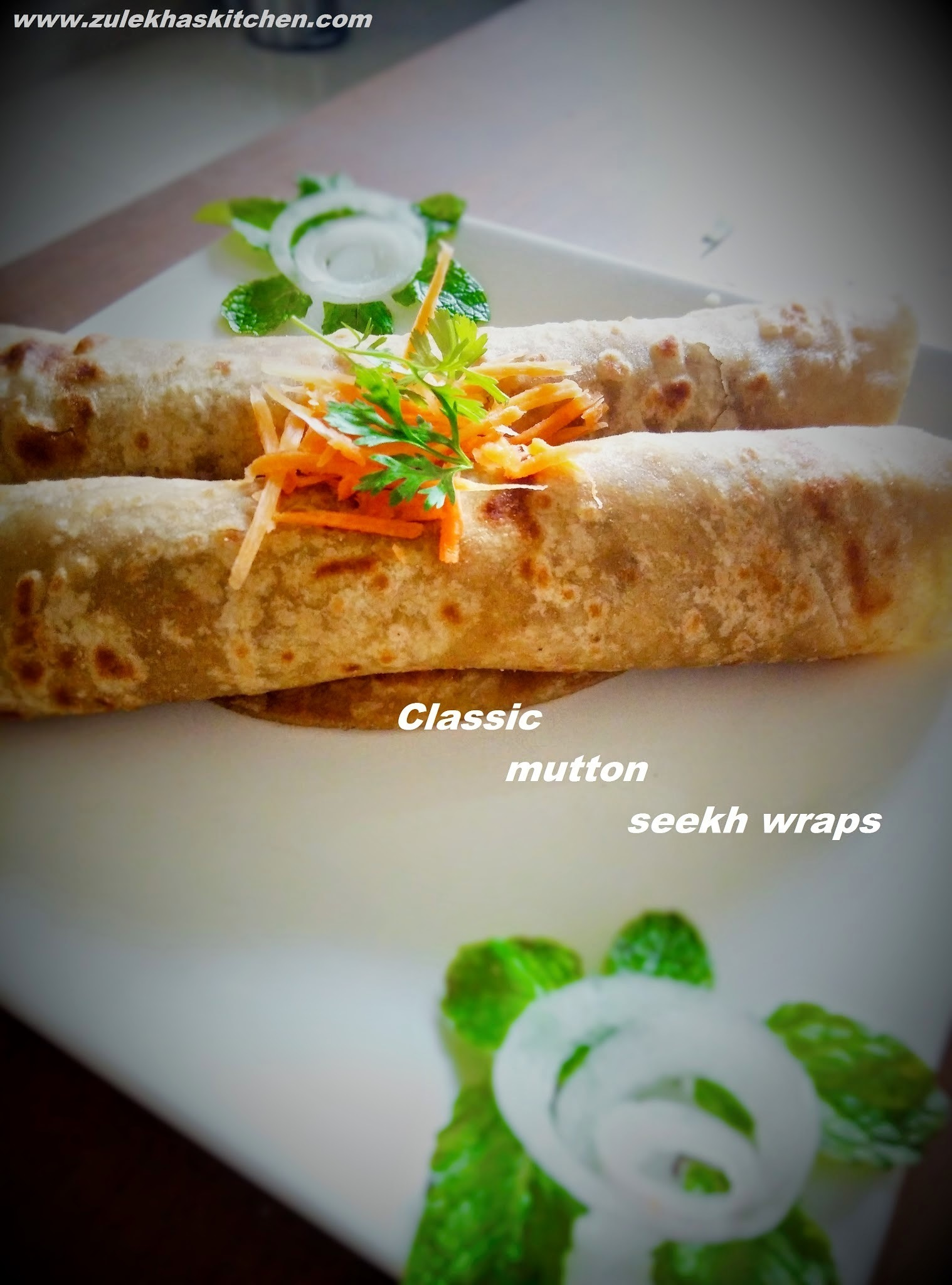 Recipe of Classic Mutton Seekh Kabab wraps