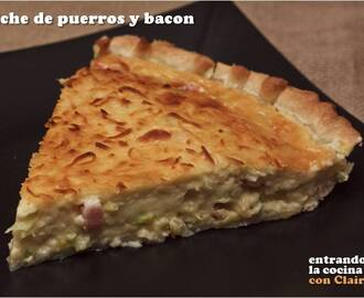 QUICHE CLAIRE (puerros y bacon)