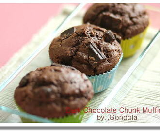 Deep Dark Chocolate Chunk Muffins