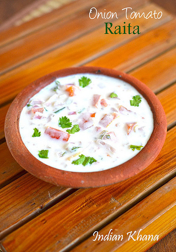 Onion Tomato Raita | Easy Raita Recipes