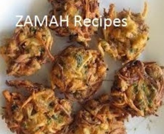 Onion Pakoda Recipe Hyderabadi Snacks from Zamah Recipes