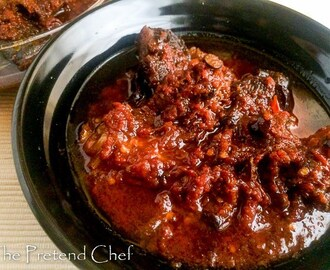 Hot and Spicy Red Ofada Stew