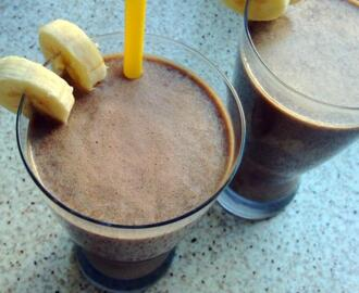 Smoothie de chocolate y plátano o banana