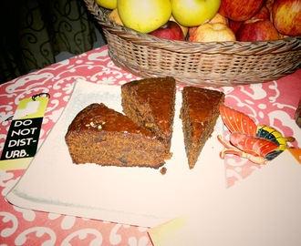 Eggless Date Cake -Whole Wheat and Wholesome