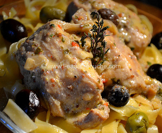 Lapin à la Moutarde & aux Olives