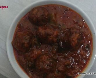 Kheema Kofta With Tomato Capsicum Curry,Lamb Recipes