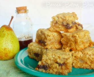 Pear, Raisin and Maple Squares