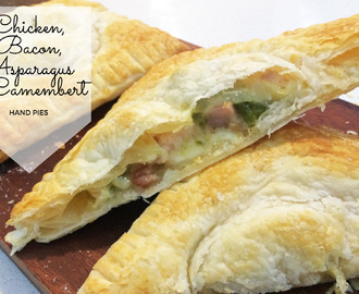 Chicken, Bacon, Asparagus & Camembert Hand Pies