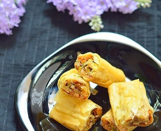 Baklava rolls recipe - Easy Sweet recipes you can try for diwali