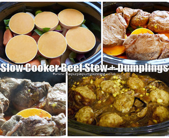 Slow Cooker Beef Stew + Dumplings