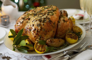 Roast Turkey Crown with lemon and thyme