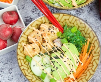 Irresistible Spicy Shrimp Poke Bowl