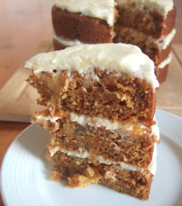 Carrot, pineapple and orange cake
