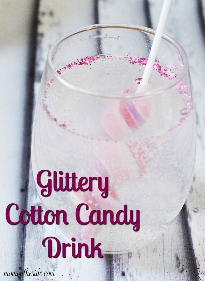 Glittery Cotton Candy Drink