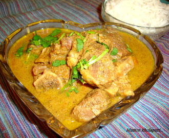 Mutton Kholapuri / Kolhapuri Mutton Recipe / Maharashtrian Goat Meat Curry / Kolhapuri Mutton Curry