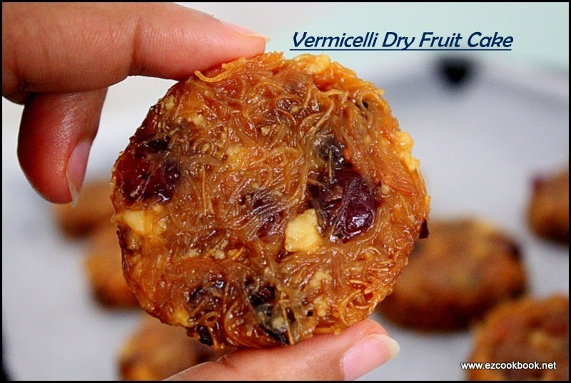 Vermicelli Dry Fruit Cake | No-Bake Cake Recipe