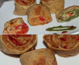 Baked Samosa bites/Pin wheels using wheat flour