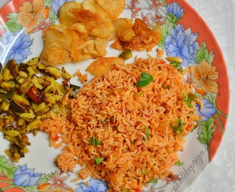 Tomato Rice | South Indian Thakkali Sadam | Tamil Variety Rice