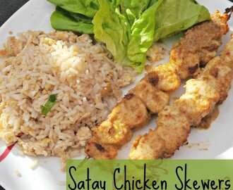 Jamie Oliver's Satay Chicken Skewers Recipe