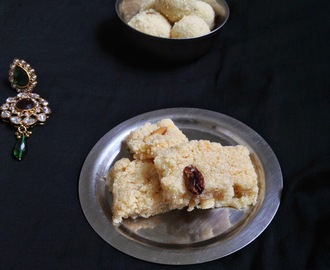 rava barfi,rava burfi recipe,how to make rava barfi recipe