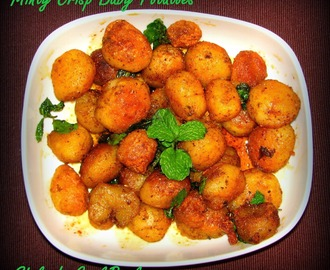 Diwali Celebrations Begin - Finger Food for your Diwali Party - Minty Crisp Baby Potatoes
