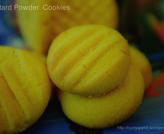 Custard Powder Cookies/Biscuits