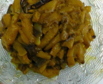 Side Dish For Roti/Chapati  -  Pumpkin With Onion