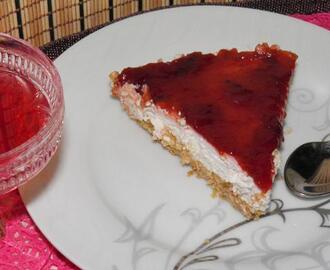 Cheesecake με μαρμελάδα δαμάσκηνο