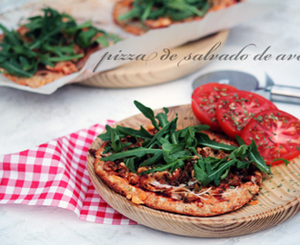 pizza de salvado  de avena