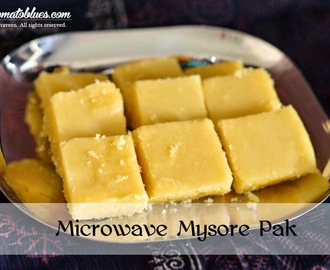Microwave Mysore Pak Recipe| Easy Diwali Sweets For Beginners