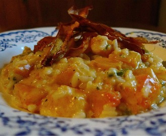 Roast Butternut Risotto with Butternut Crisps