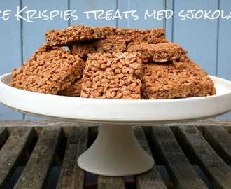 Rice Krispies treats med sjokolade