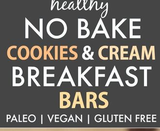 Healthy No Bake Cookies and Cream Breakfast Bars (Paleo, Vegan, Gluten Free)