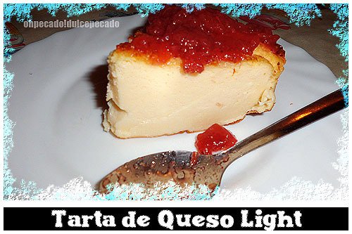 Tarta de queso light apta para Dukan