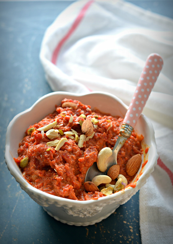 Carrot Halwa – Quick & easy Gajar Halwa made with condensed milk in Pressure cooker