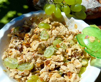 Salade de poulet aux raisins et curry / Coronation Chicken