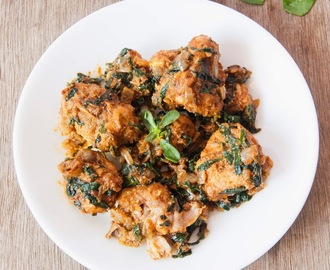 Methi Chicken / Chicken with Fenugreek leaves