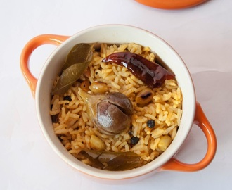 Vaangi Baath / Brinjal Rice / South Indian Style Eggplant Rice