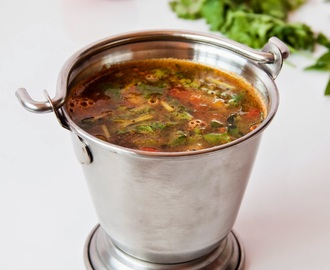 Tomato and Garlic Rasam