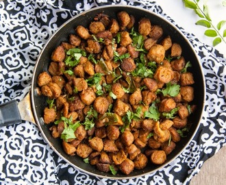 Stir Fried Soya Chunks / Soya Nuggets